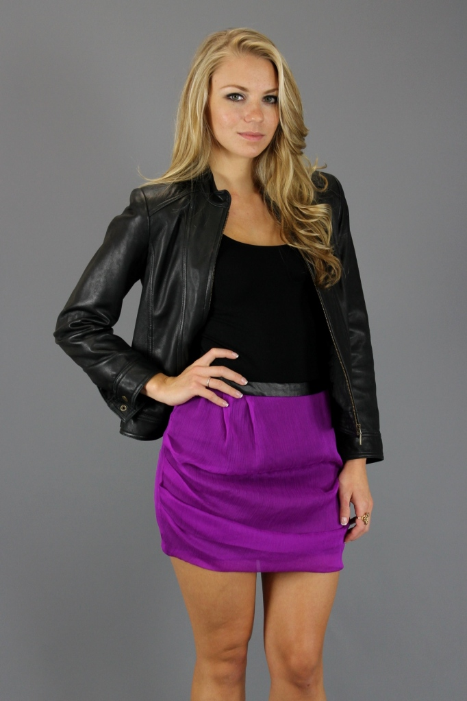 Lucca Couture Ruched Skirt Outfitted